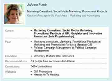 LinkedIn profile review by JoAnne Funch