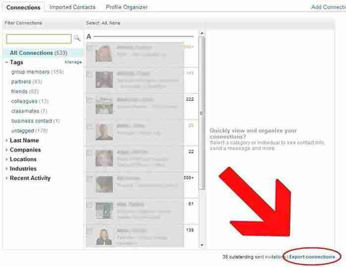How To Export Your LinkedIn Contacts