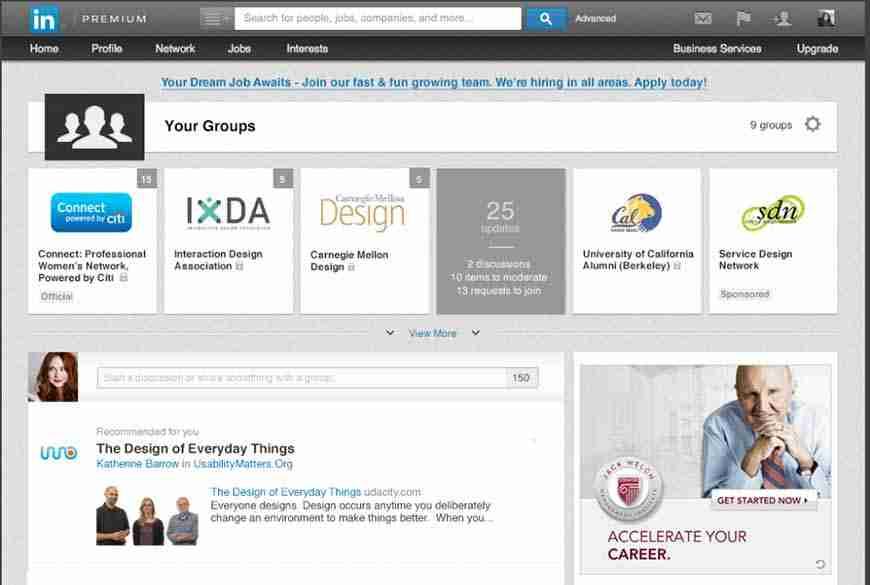 LinkedIn Groups Page Updated With new Visuals