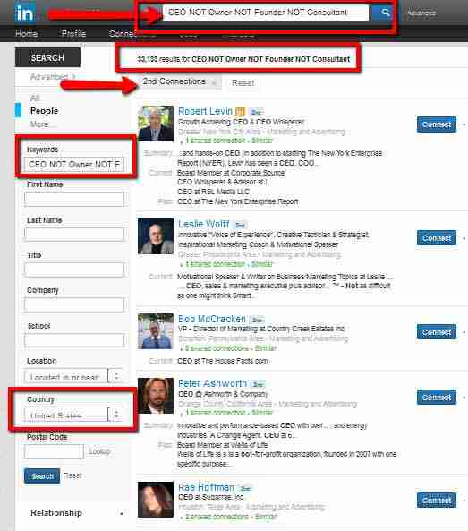Leveraging LinkedIn Advanced Search