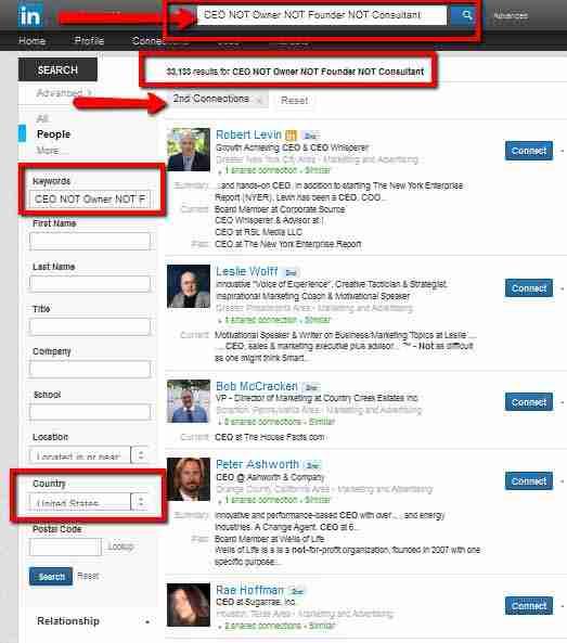 Leveraging LinkedIn Advanced Search