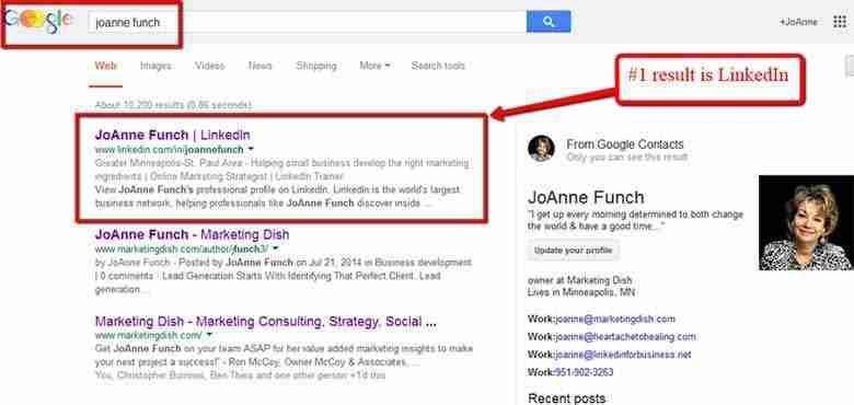 LinkedIn Helps Google Find Businesses