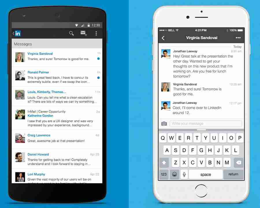 LinkedIn Adds Chat Style Interface For Messaging Contacts