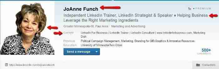 Professional LinkedIn Lead Generation Tips from JoAnne Funch