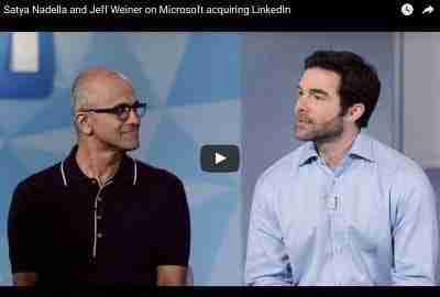 Satya Nadella & Jeff Weiner announcement