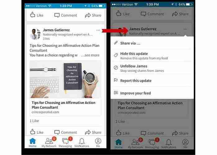 LinkedIn-Mobile-newsfeed