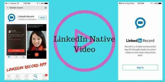 LinkedIn Jumps Native Video Craze