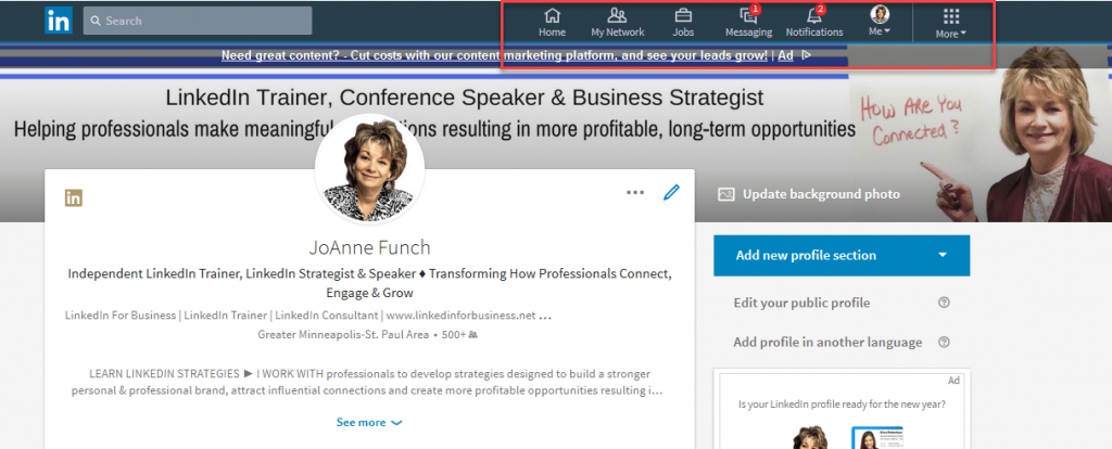 LinkedIn New Desktop Redesign
