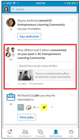 Image for Discover LinkedIn Groups from home page 2018
