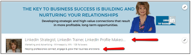 linkedin-company-page-tagline-keywords
