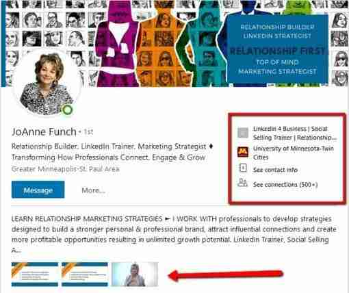 linkedin profile tips linked in for business