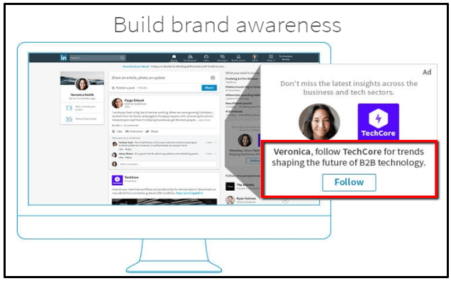 build brand awareness with a LinkedIn Ad