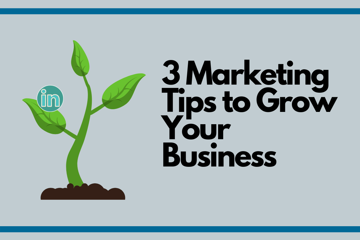LinkedIn 3 Marketing Tips To Grow Your Business