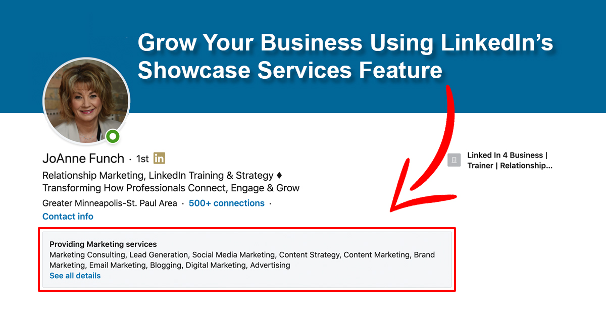 Growth Your Business Using LinkedIn's Services Offered Section