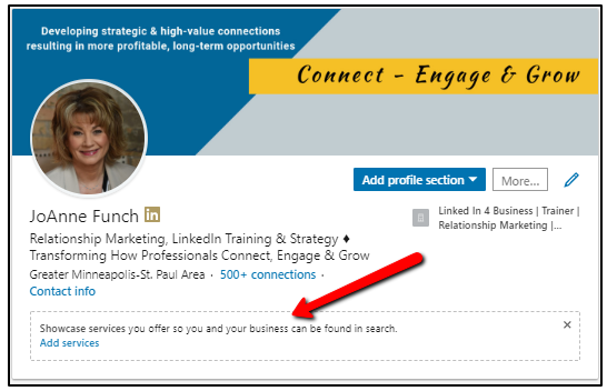 LinkedIn Showcase Services