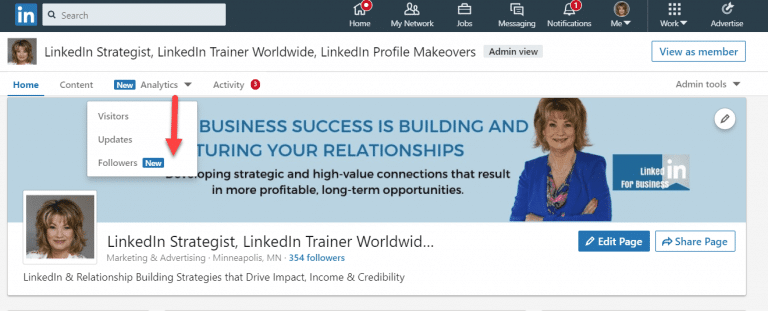LInkedIn Company Page-Download Spreadsheets
