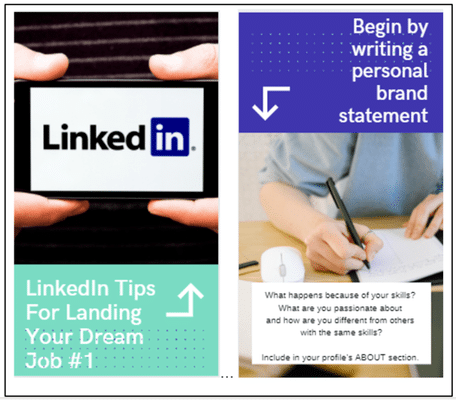 Create LinkedIn Story Graphic in Canva