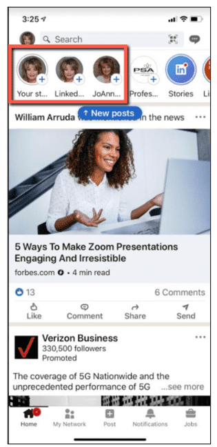 LinkedIn For Business Creating Stories